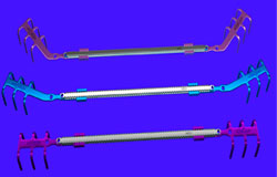 Puentes con barras y clips costales
