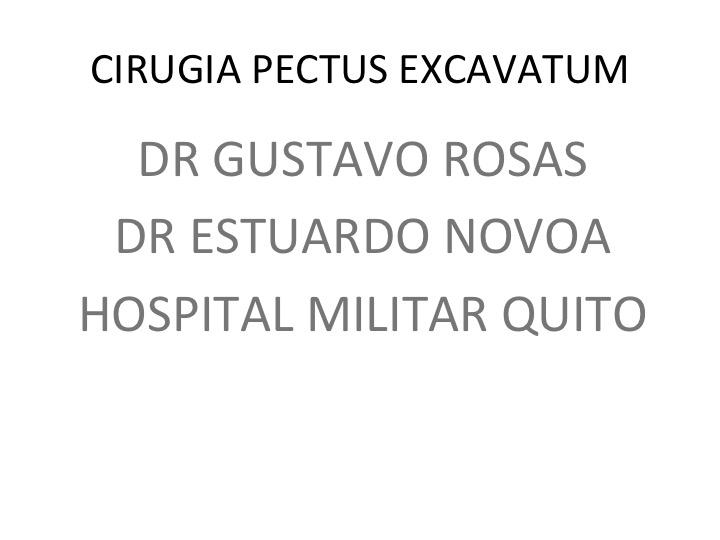 Cirugía Pectus Excavatum